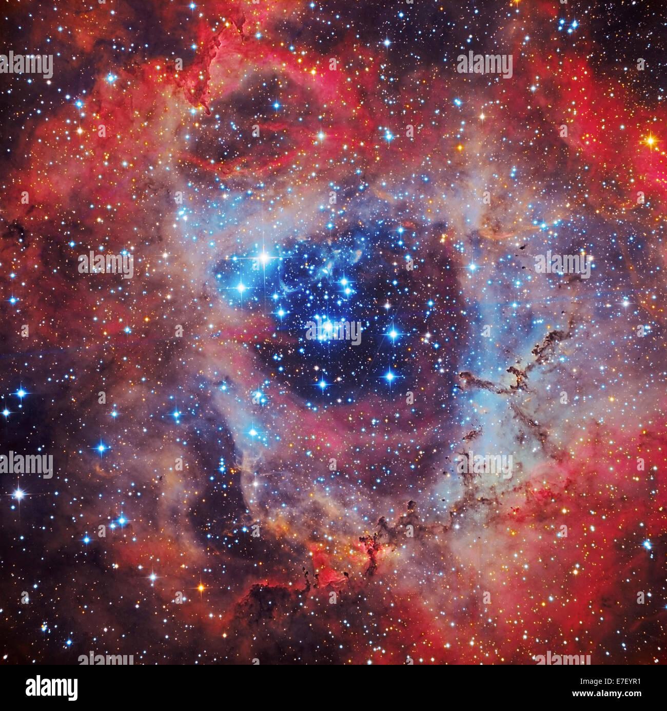 The Rosette Nebula - Stock Image