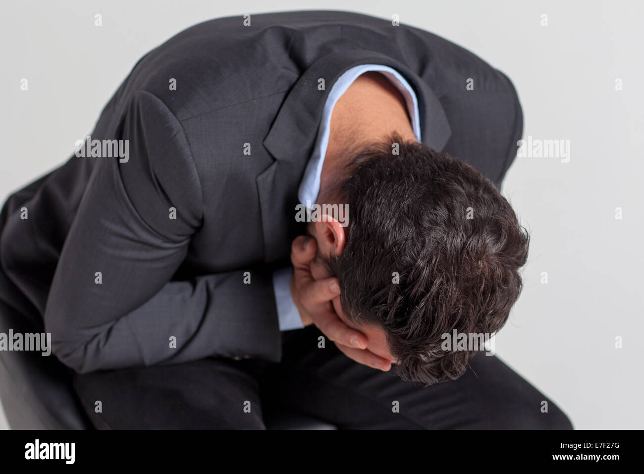 Businessman with depression Stock Photo