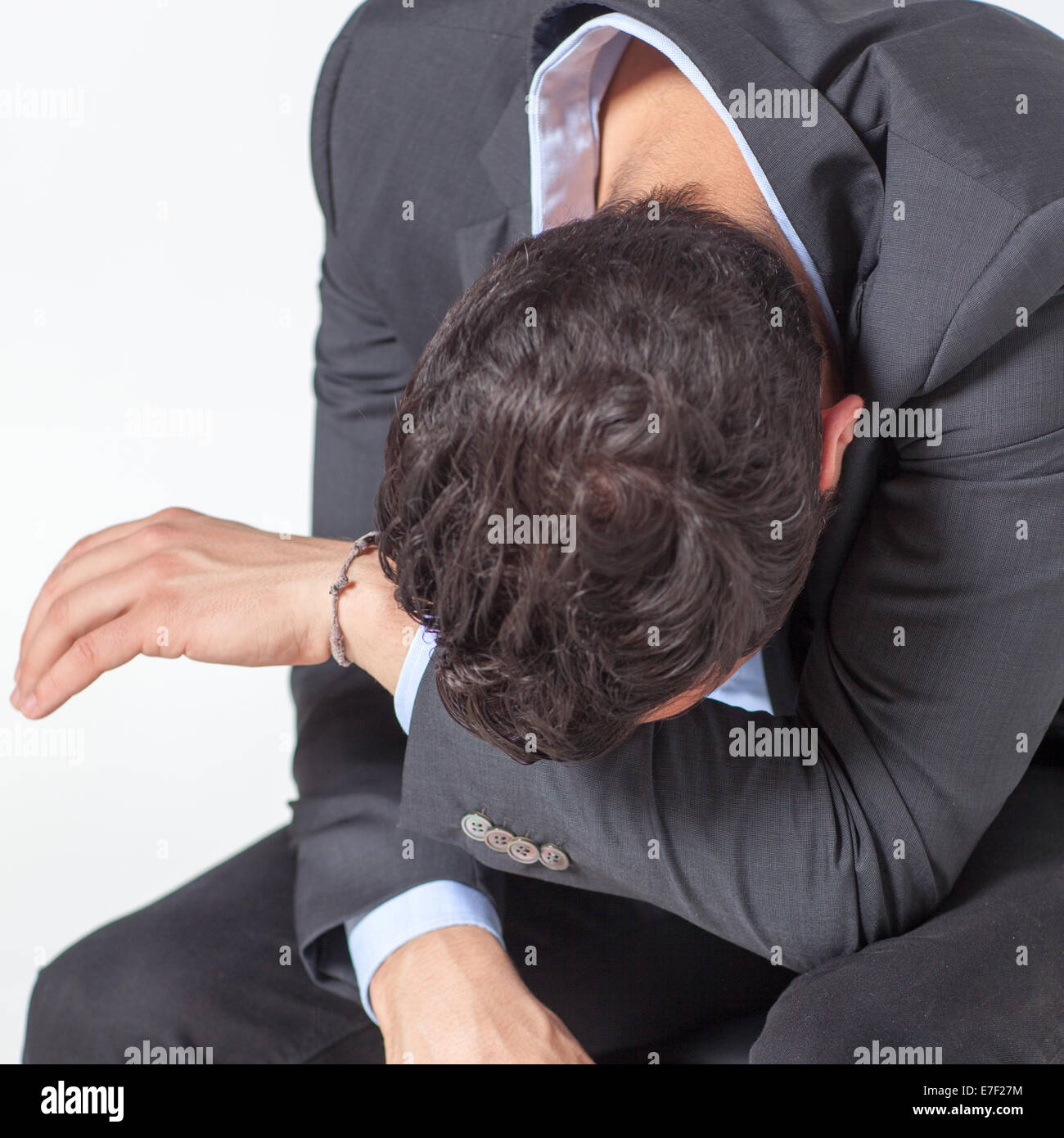 Businessman with depression - Stock Image