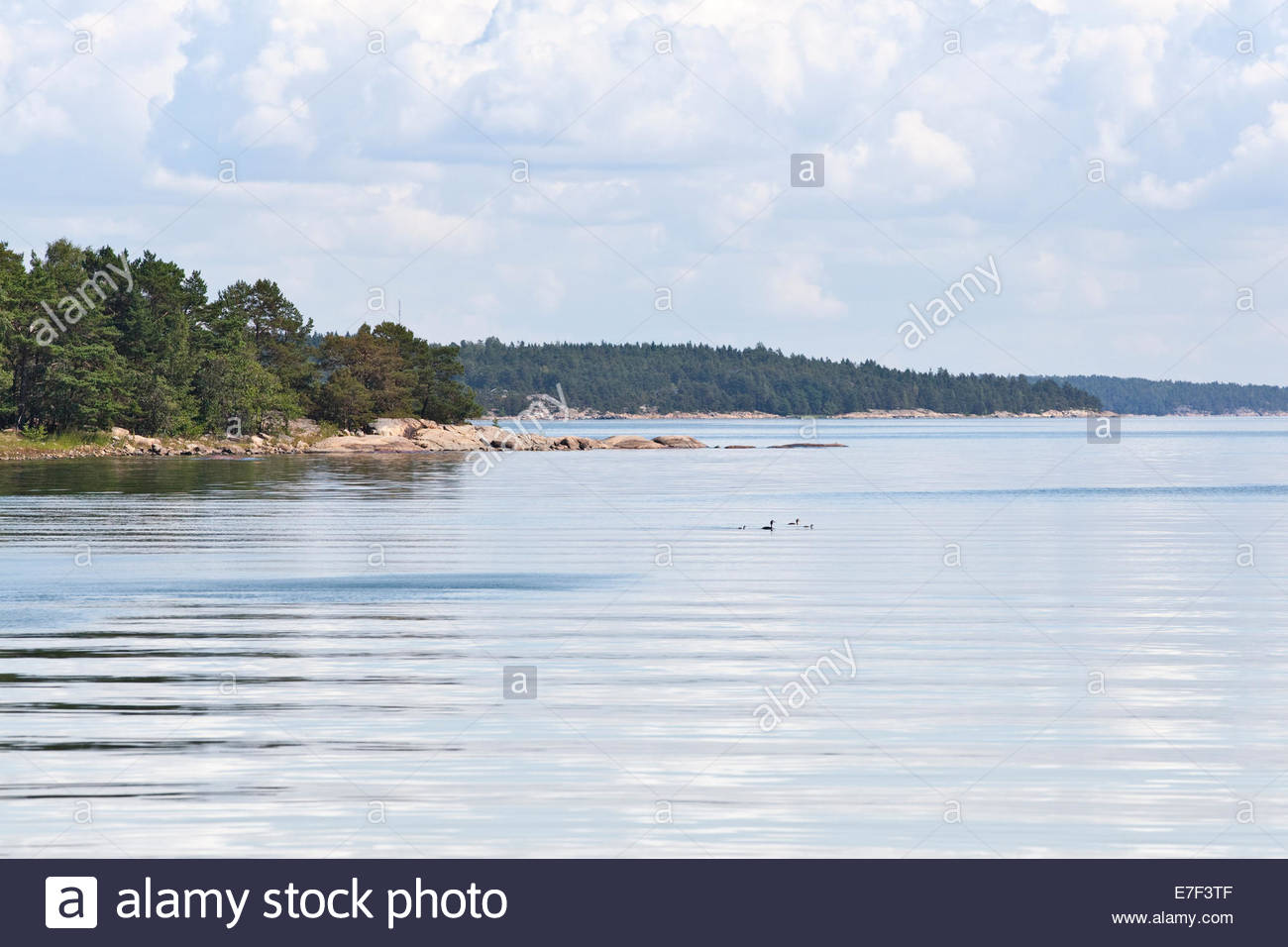 Sunny summer day in the archipelago of Southwest Finland - Stock Image