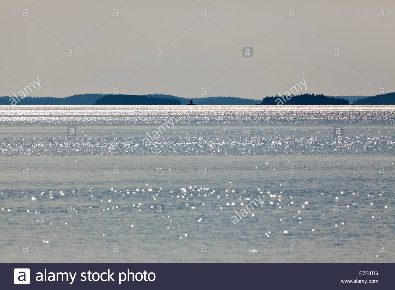Seawater glistening in the morning at Baltic Sea - Stock Image