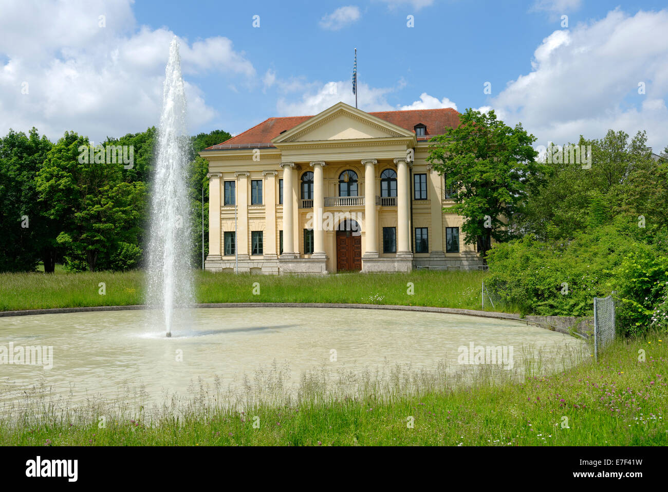 Prinz-Carl-Palais in Poets' Garden, formerly Finance Garden, built 1804 - 1806 by Karl von Fischer, Munich, - Stock Image