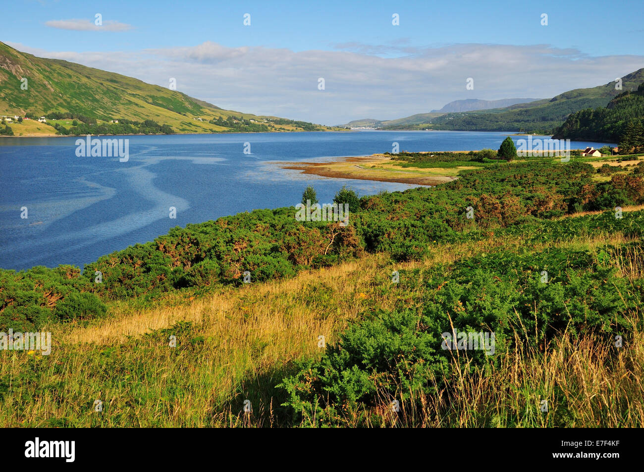 Loch Broom towards Ullapool, Caithness, Sutherland and Ross, Scottish Highlands, Scotland, United Kingdom - Stock Image