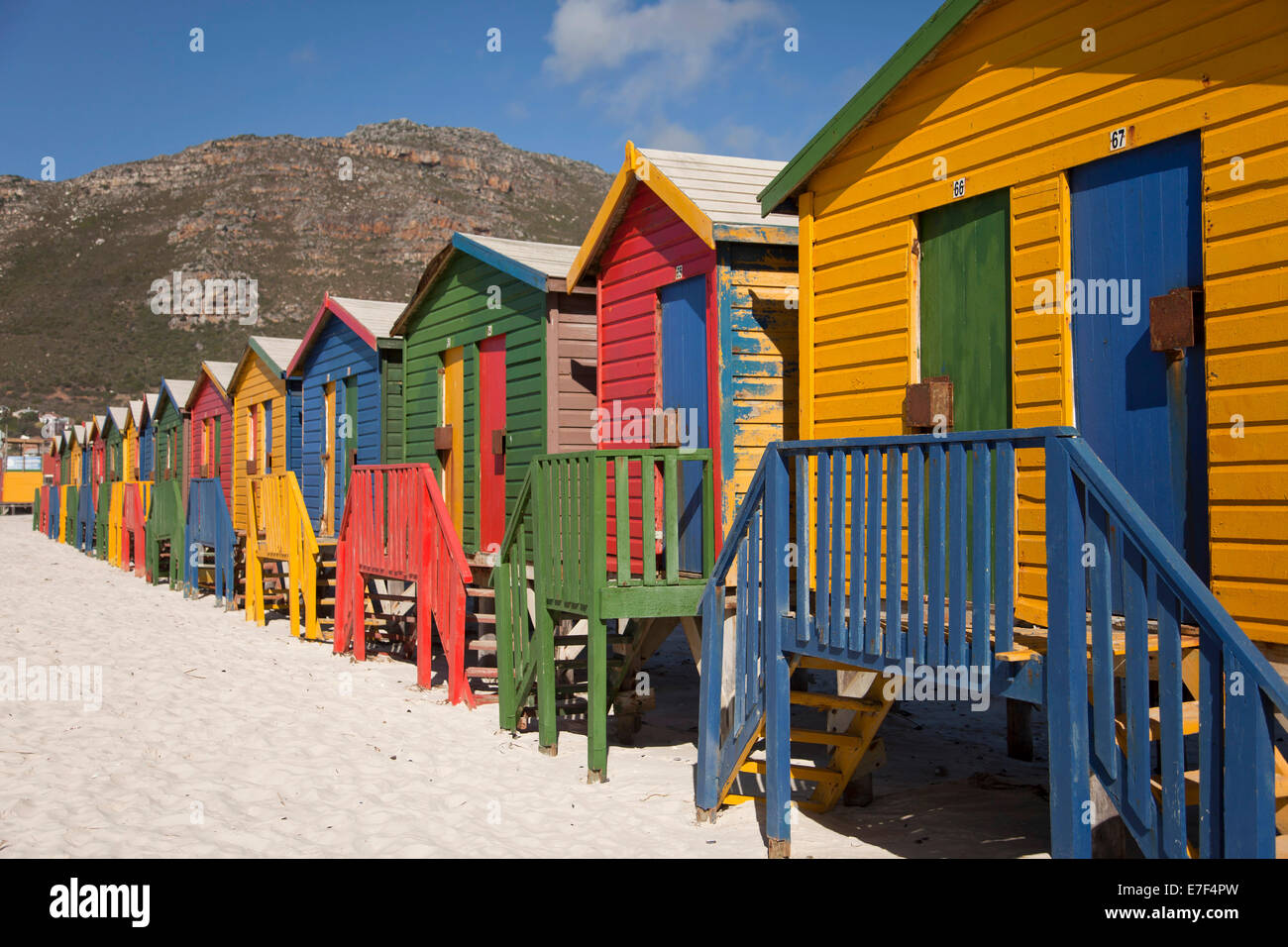 South African Beach With Colorful Houses