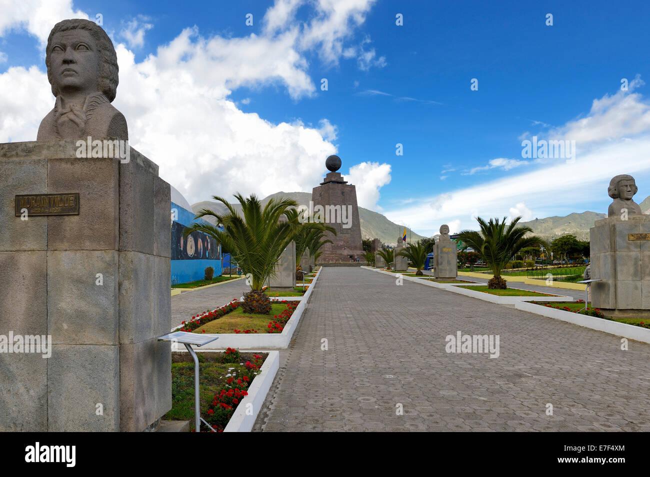Equatorial Monument, Quito, Ecuador, South America - Stock Image
