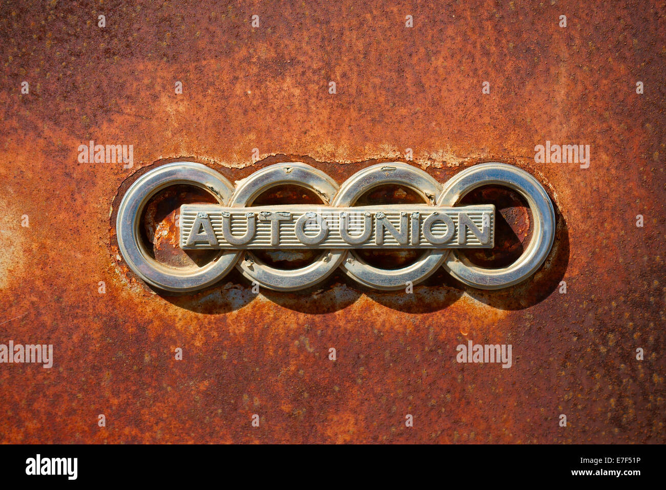 Lettering Auto Union Old Logo Of The Auto Union Car Company In A