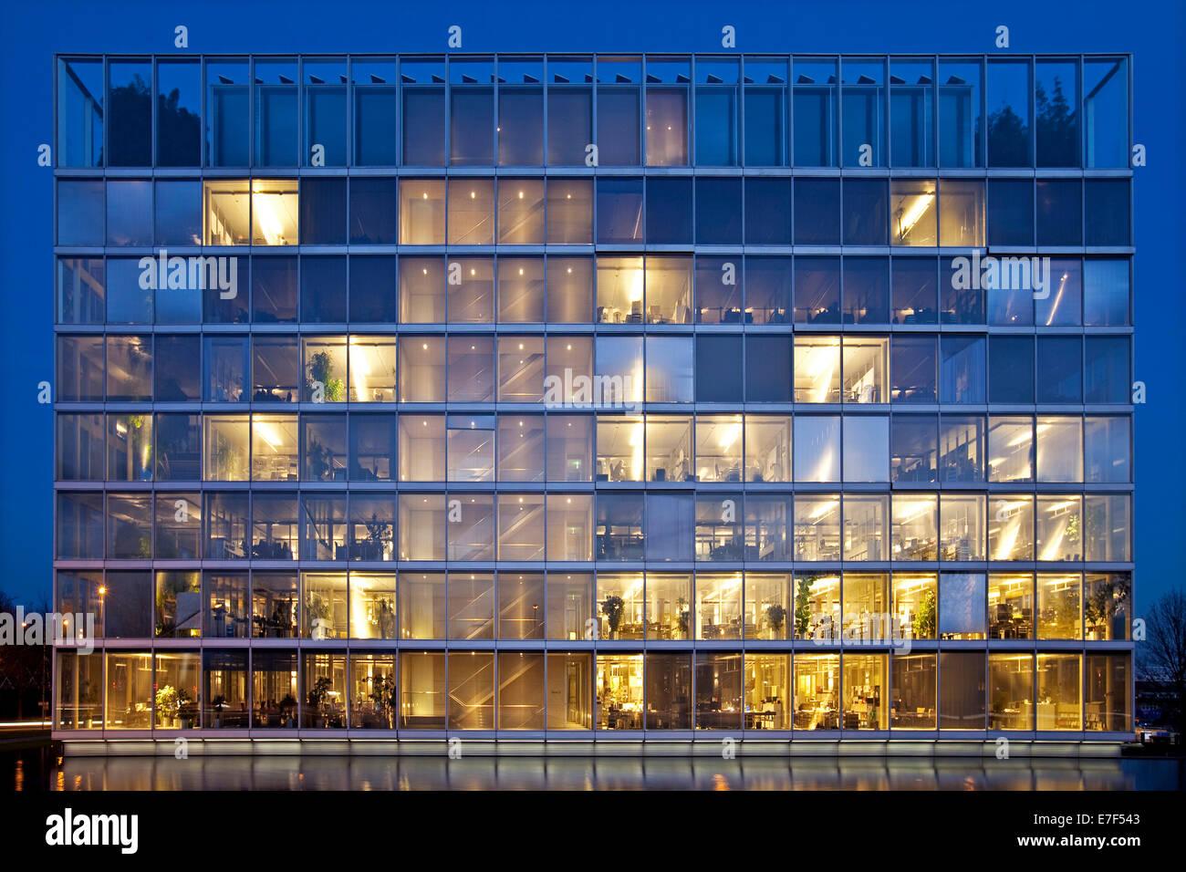 Headquarters of Gelsenwasser AG, utilities company, Gelsenkirchen, Ruhr Area, North Rhine-Westphalia, Germany - Stock Image