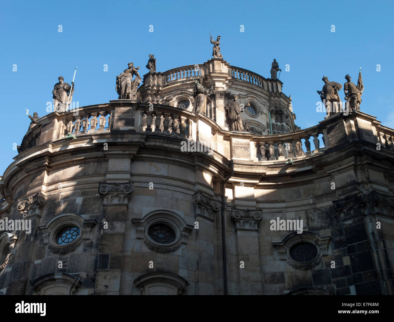 View of Roman Catholic Cathedral Dresden germany - Stock Image