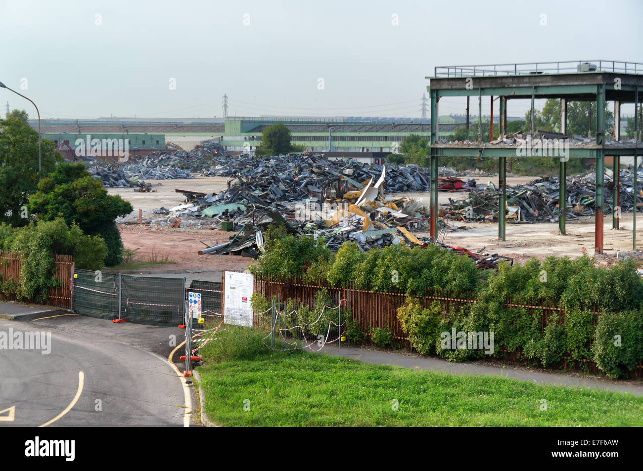 The Arese Alfa Romeo production area conversion in preparation of Milan expo 2015 - Stock Image