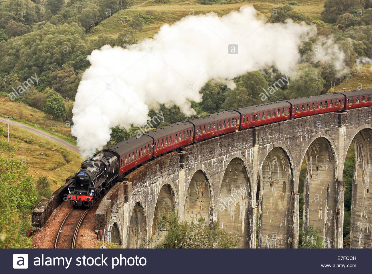 The Jacobite steam train Stock Photo
