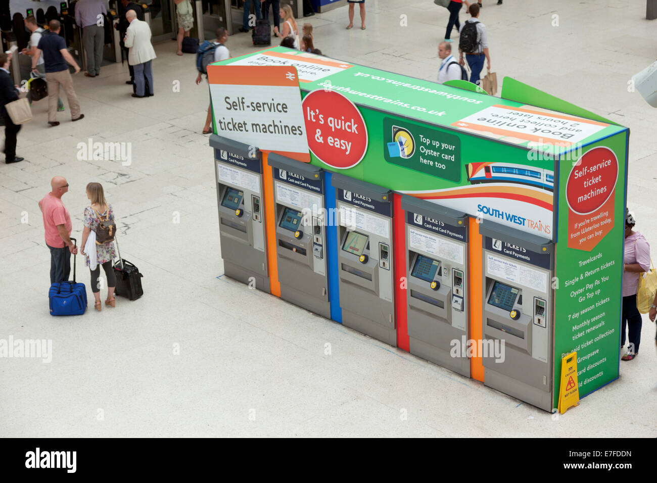 Self service ticket machine at Waterloo Station - Stock Image
