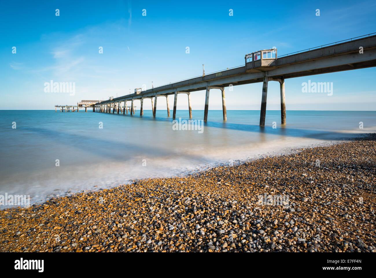 Seaside pier at deal in Kent - Stock Image