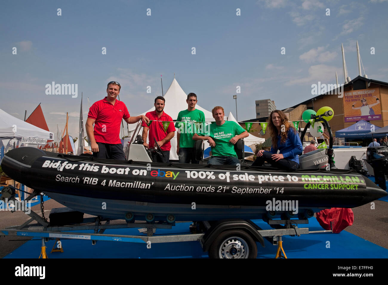 Rib 4 Macmillan Boat Raising Money For Macmillan Cancer Support Its Stock Photo Alamy