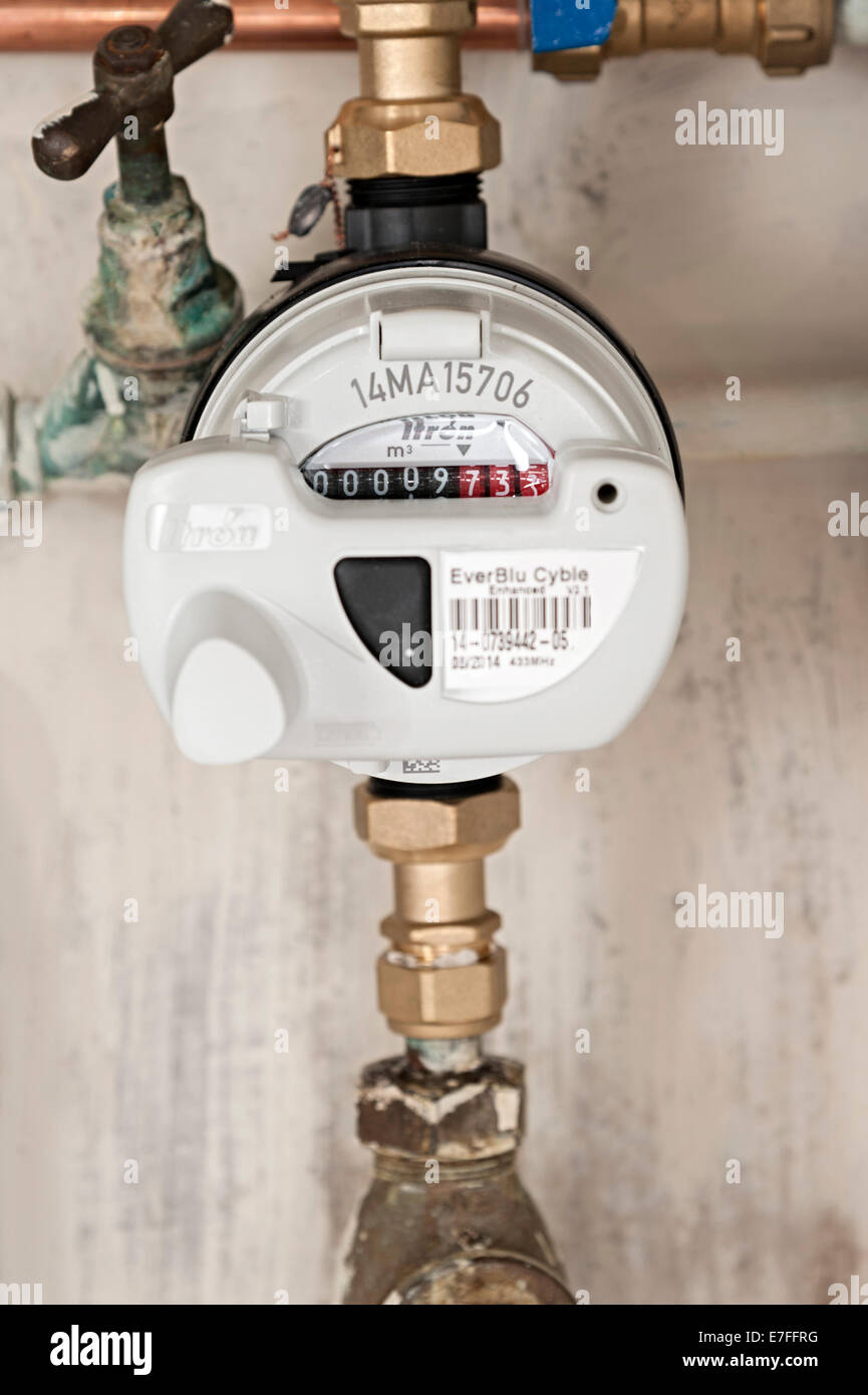 a water meter under a domestic sink with moldy walls the uk these ...