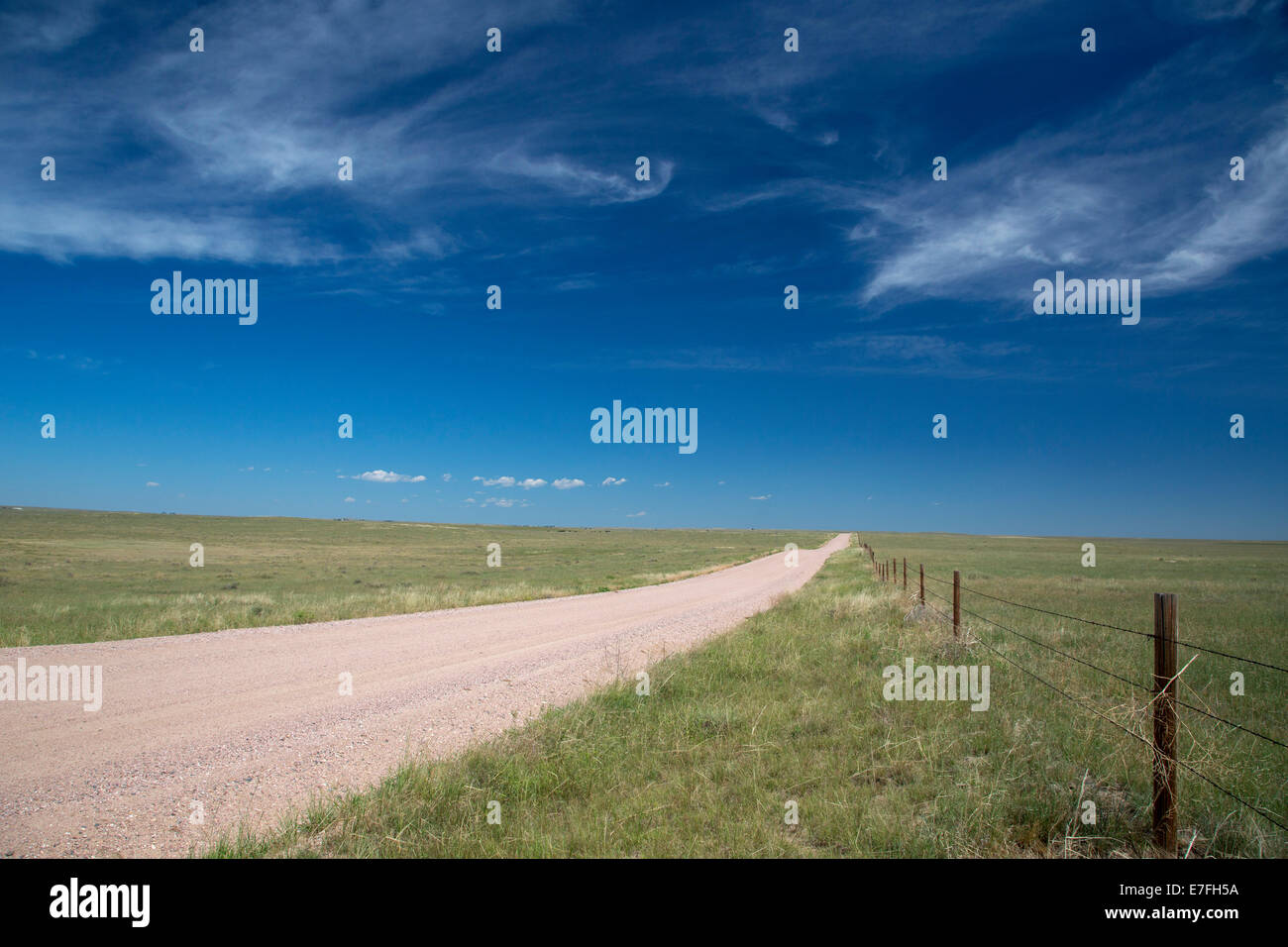Purcell, Colorado - The empty prairie in Pawnee National Grassland. - Stock Image