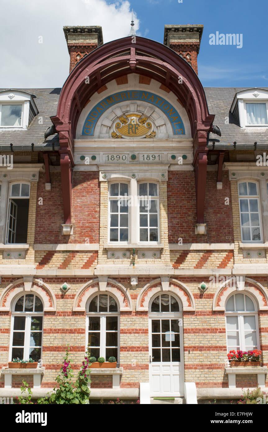 Gendarmerie Nationale building Saint-Valery-sur-Somme, Picardy, France, Europe - Stock Image
