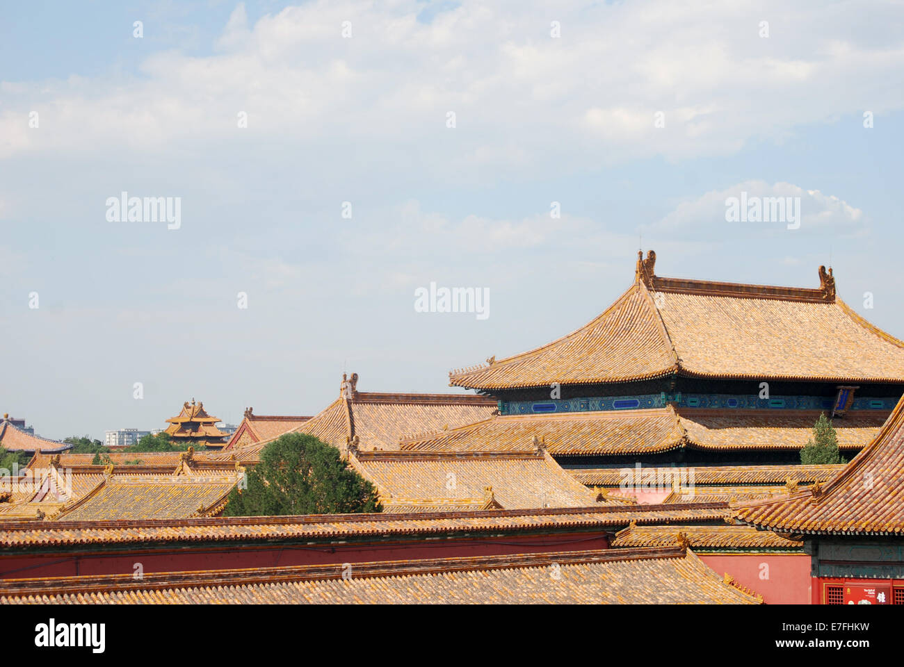 Inside Forbidden Palace, Beijing, China 2014 - Stock Image