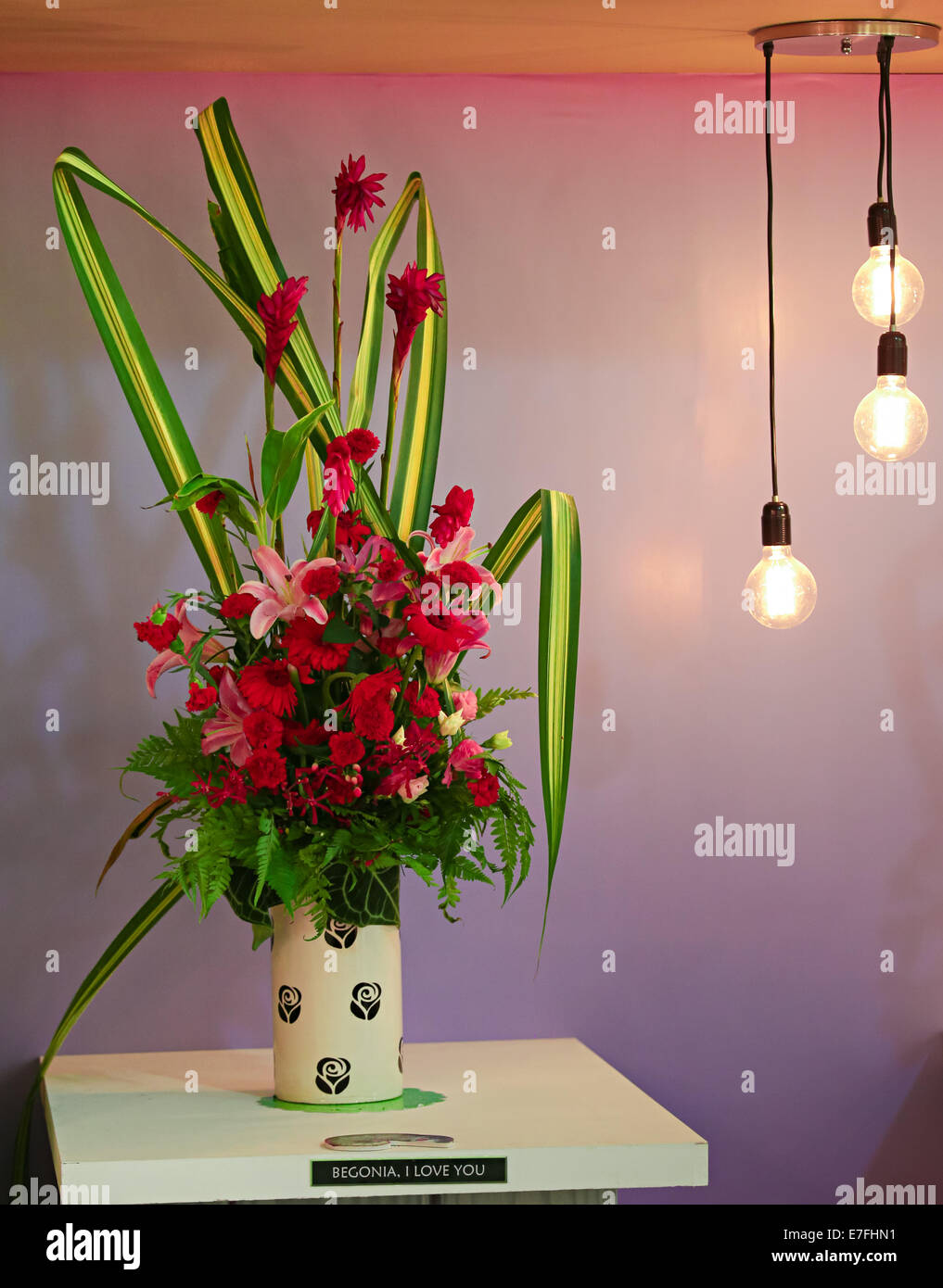 Beautiful Potted Flower Arrangements At Floria Event Held In Stock