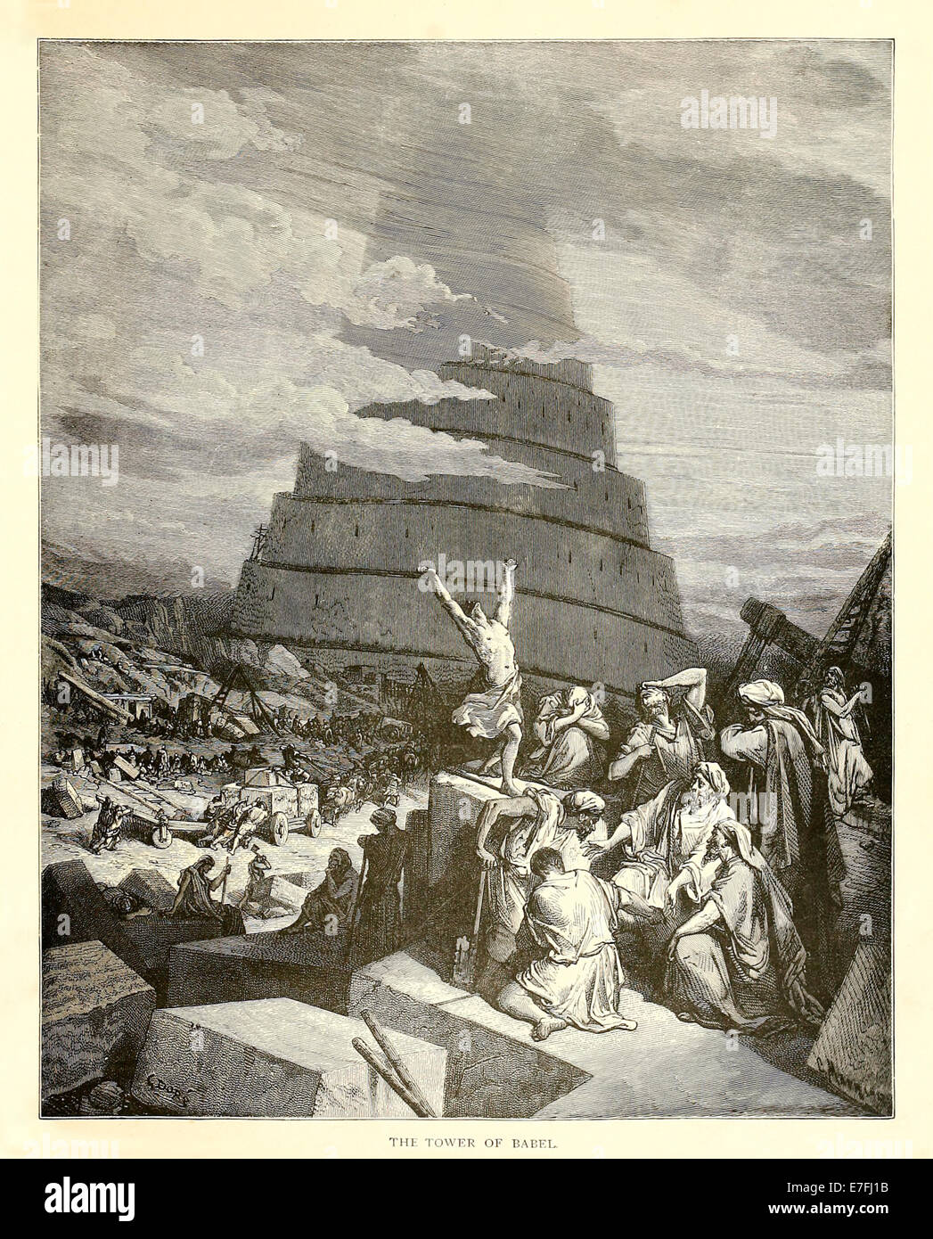 The Tower of Babel - Illustration by Paul Gustave Doré (1832-1883) from  1880 edition of the Bible. See description for more information.