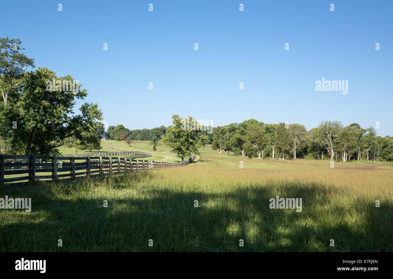 Main road through town of Appomattox Park. Site of the surrender of Southern Army under General Robert E Lee to - Stock Image