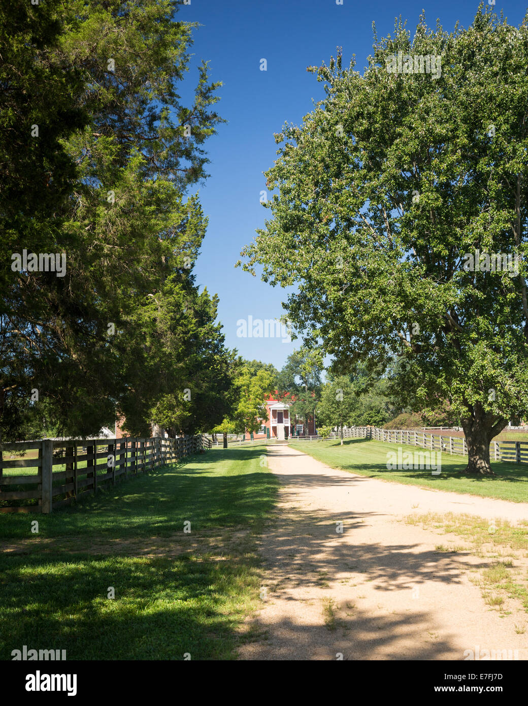 Appomattox site of the surrender of Southern Army under General Robert E Lee to Ulysses S Grant April 9, 1865 - Stock Image