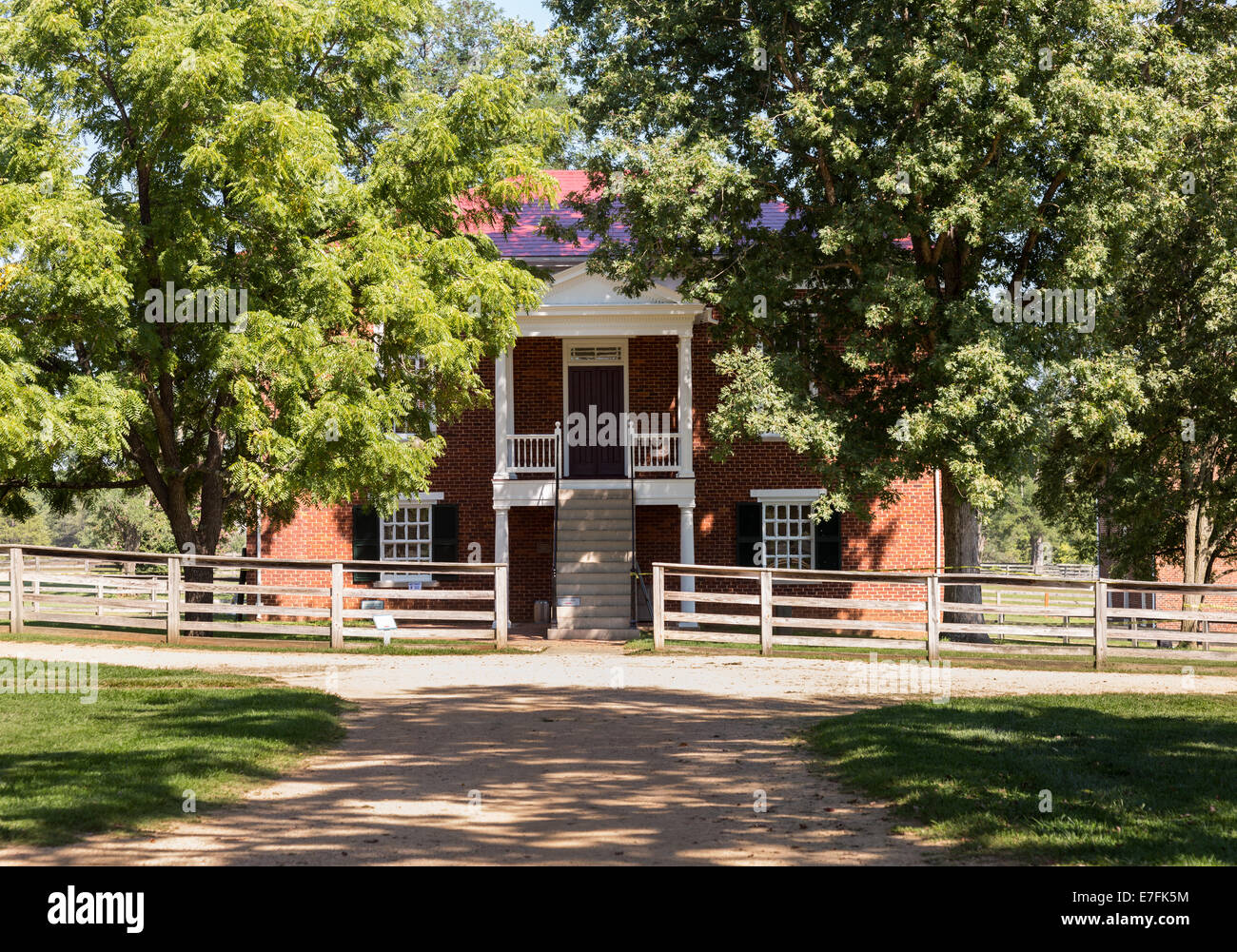County Court House at Appomattox site of the surrender of Southern Army under General Robert E Lee to Ulysses S - Stock Image