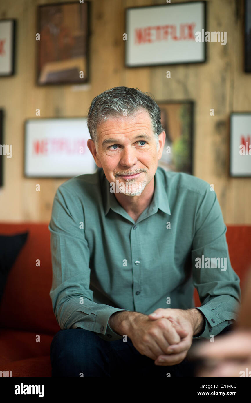 netflix ceo reed hastings stock photos netflix ceo reed hastings stock images alamy. Black Bedroom Furniture Sets. Home Design Ideas