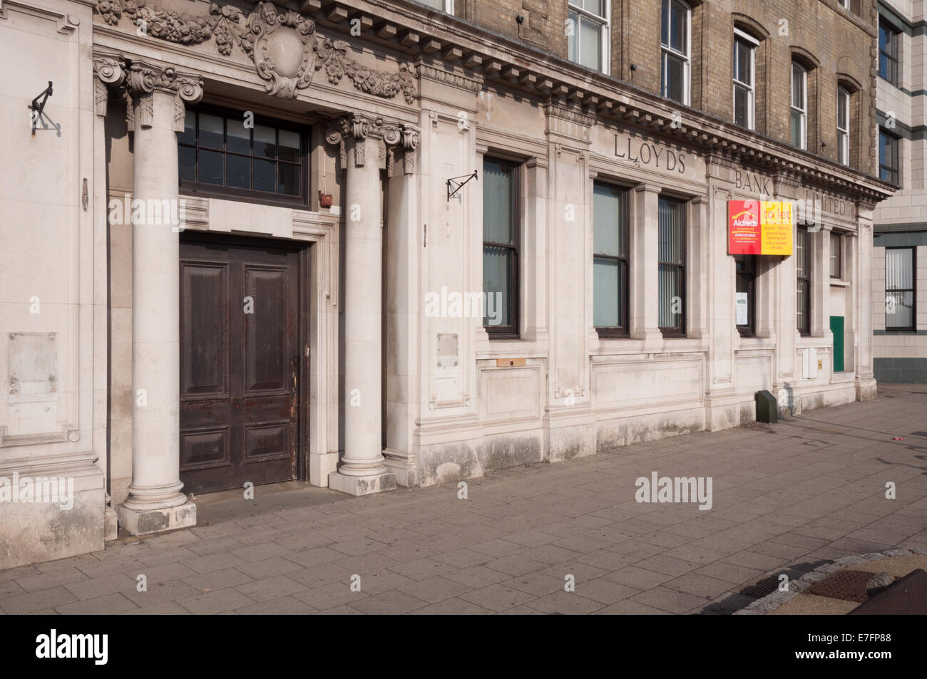 Closed former Lloyds Bank branch in Great Yarmouth - Stock Image