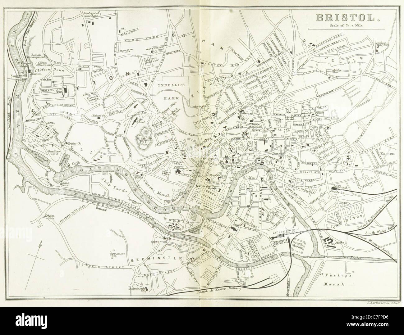 EW(1884) p.174 - Bristol (merged) - A   C Black (pub) - Stock Image