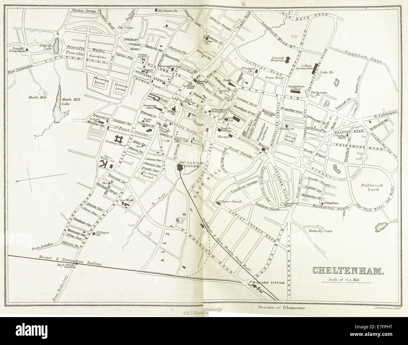 EW(1884) p.260 - Cheltenham (merged) - A   C Black (pub) - Stock Image