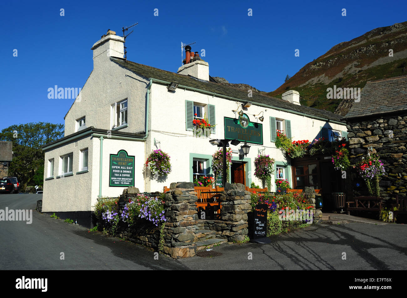 Travellers Rest Public House - Stock Image