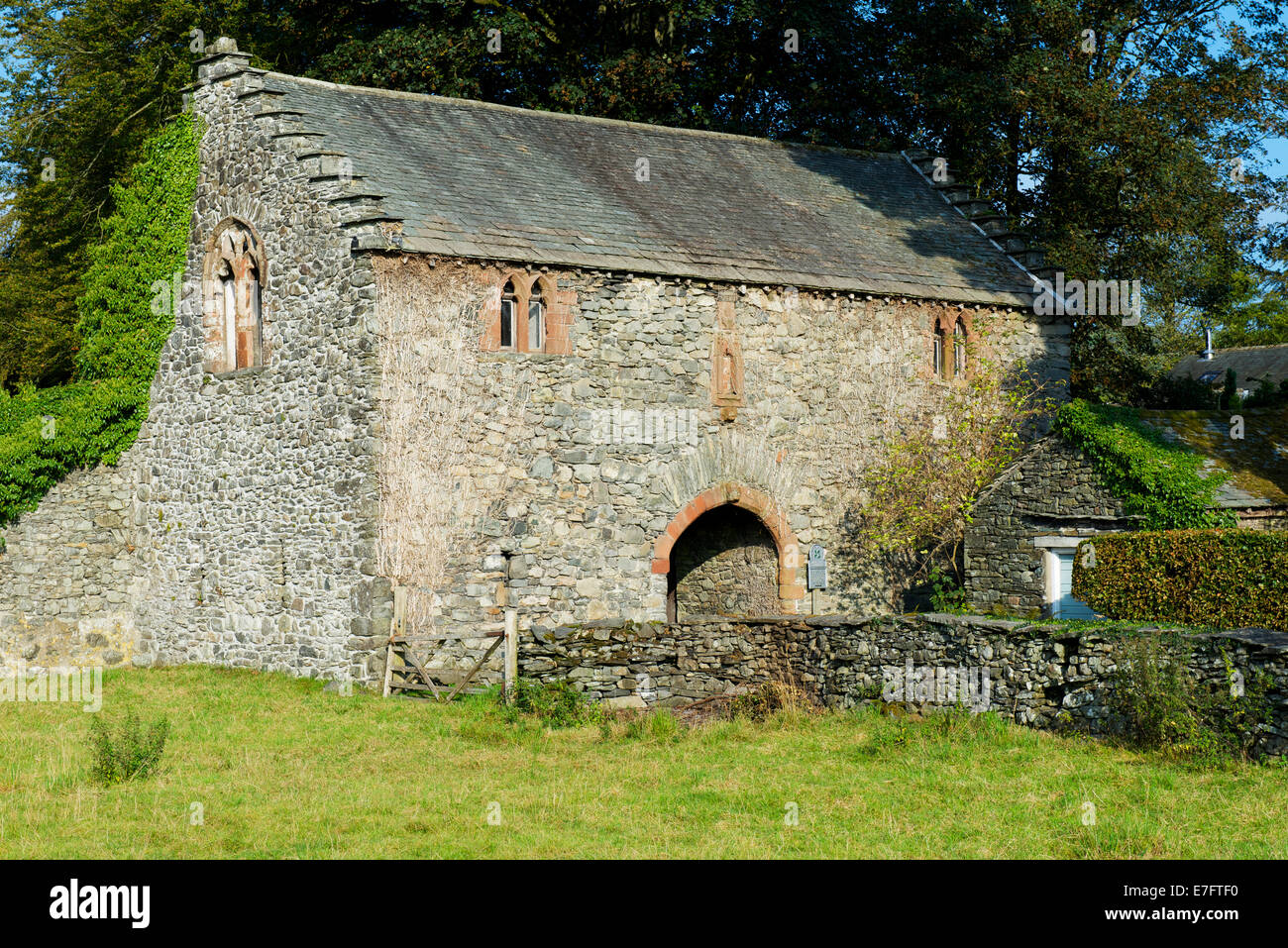 The Old Courthouse, near Hawkshead, Lake District National Park, Cumbria, England UK - Stock Image