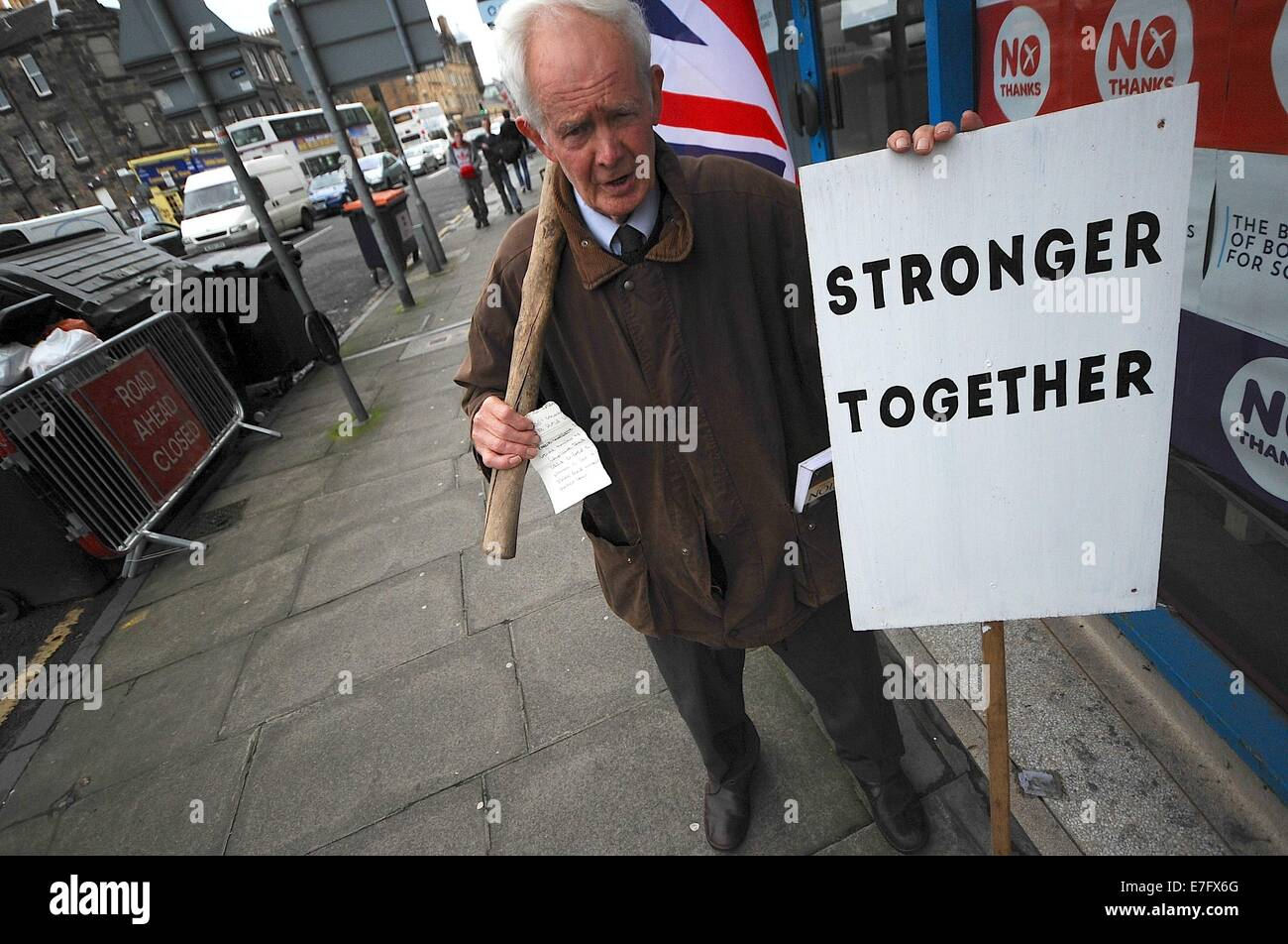 Sept. 16, 2014 - London, England, United KIngdom - The ''Better Together'' campaign is busy at their Headquarters. Stock Photo