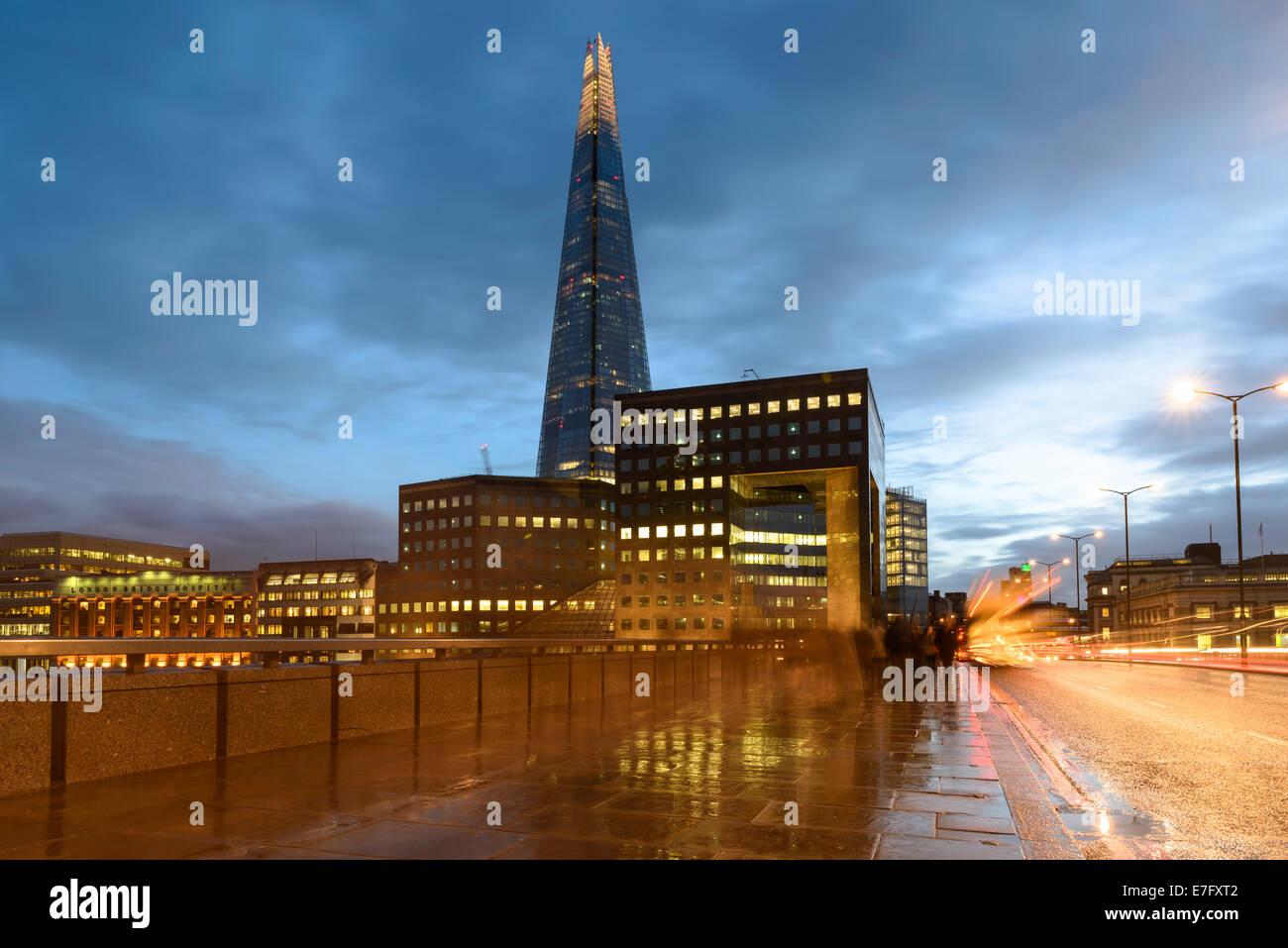 London Bridge at Dusk, England, UK Stock Photo