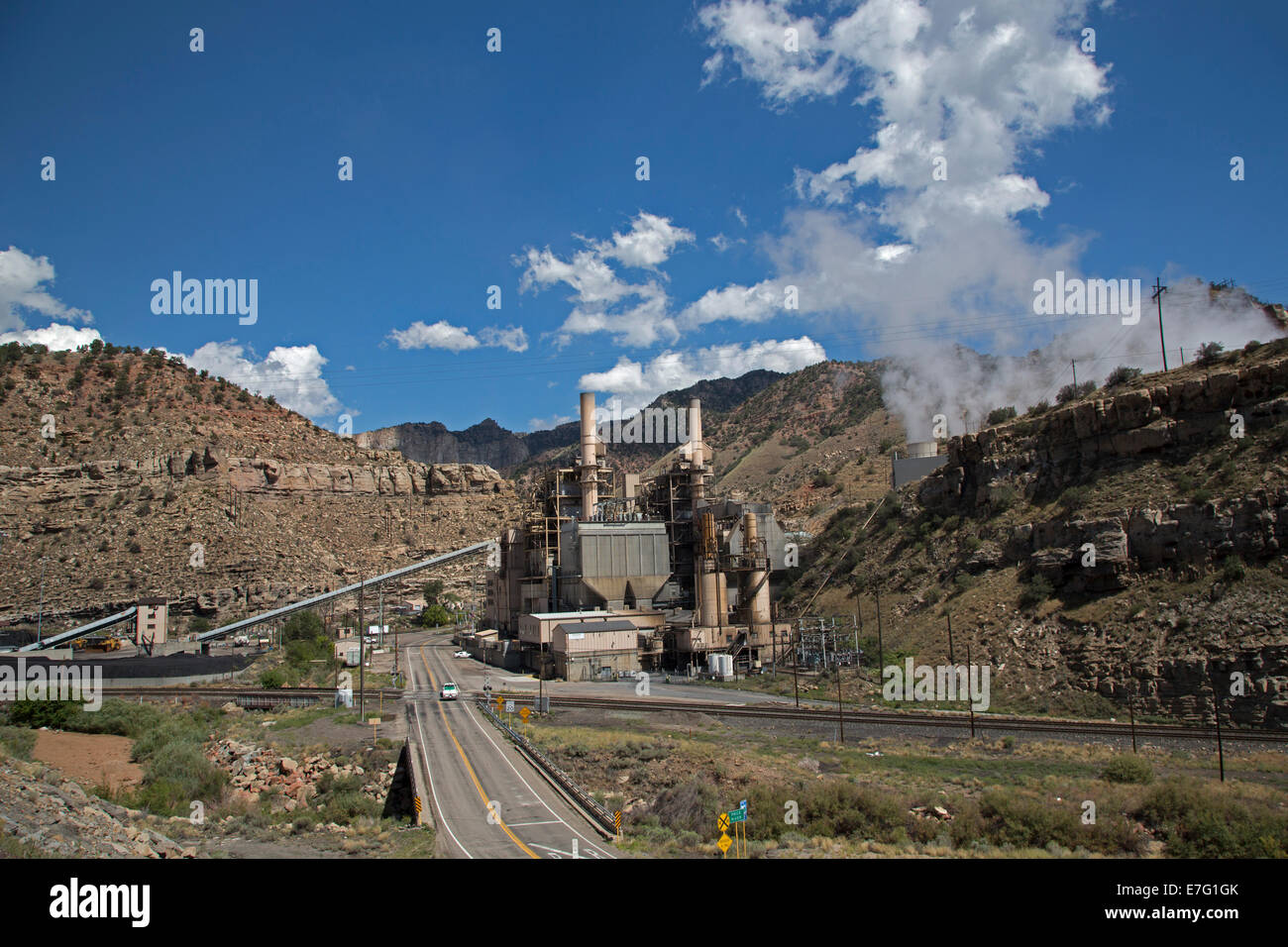 Helper, Utah - PacifiCorp's Carbon Power Plant generates electricity by burning coal from local coal mines. - Stock Image