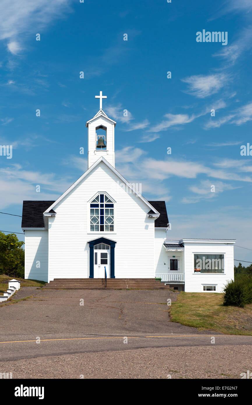 Notre-Dame-de-L'Assomption chapel, Rivière-Ouelle, province of Quebec, Canada. - Stock Image