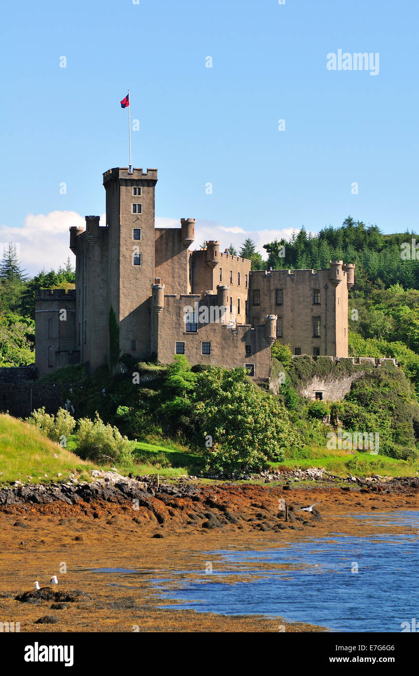 Dunvegan Castle, Ross, Skye and Lochaber, Isle of Skye, Scotland, United Kingdom - Stock Image
