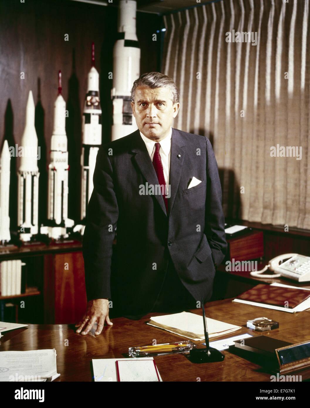 Wernher Magnus Maximilian, Freiherr von Braun. German and American aerospace engineer and space architect. - Stock Image
