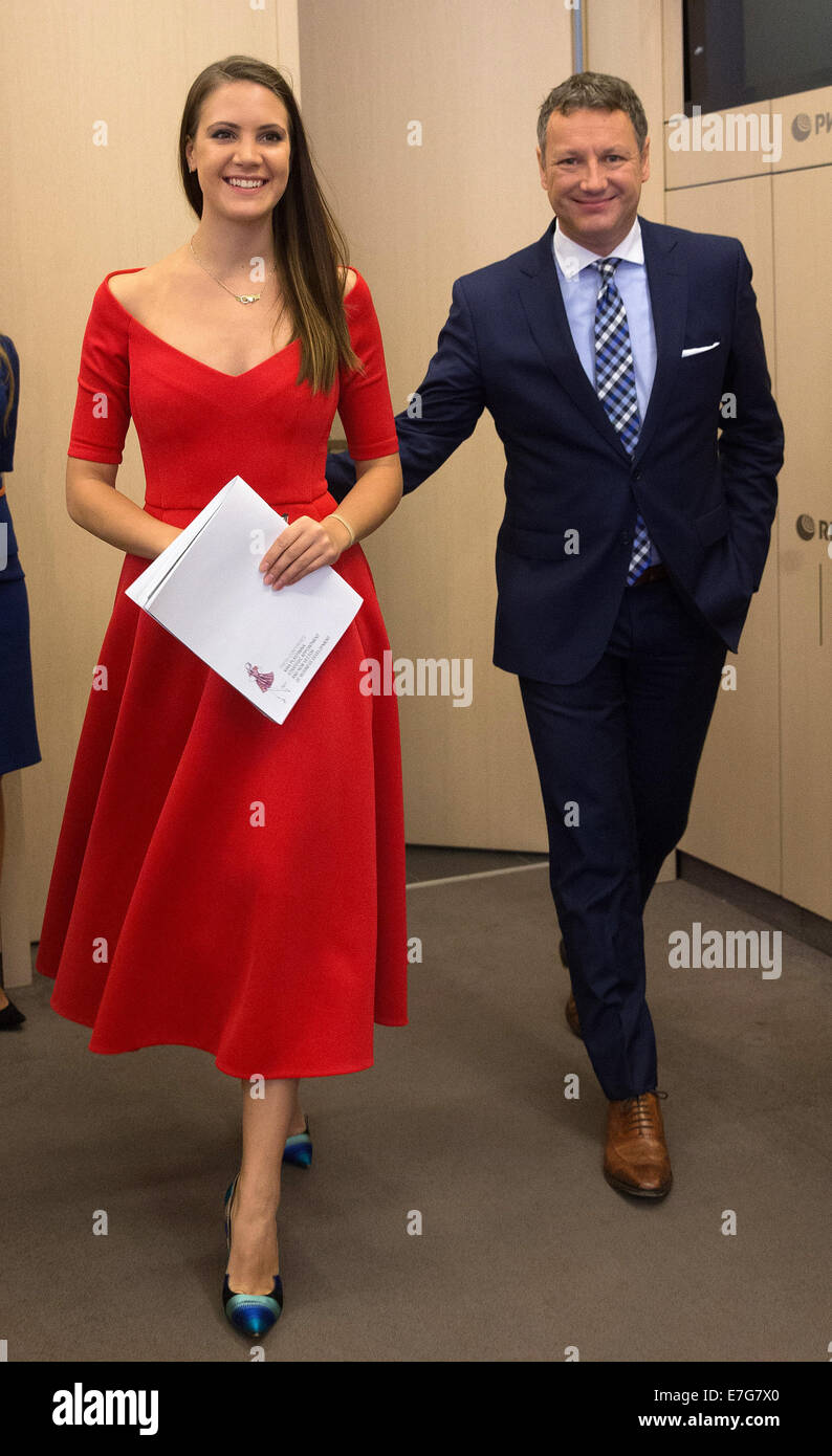 Moscow Russia 16th Sep 2014 Fashion Designer Kira Plastinina L Stock Photo Alamy