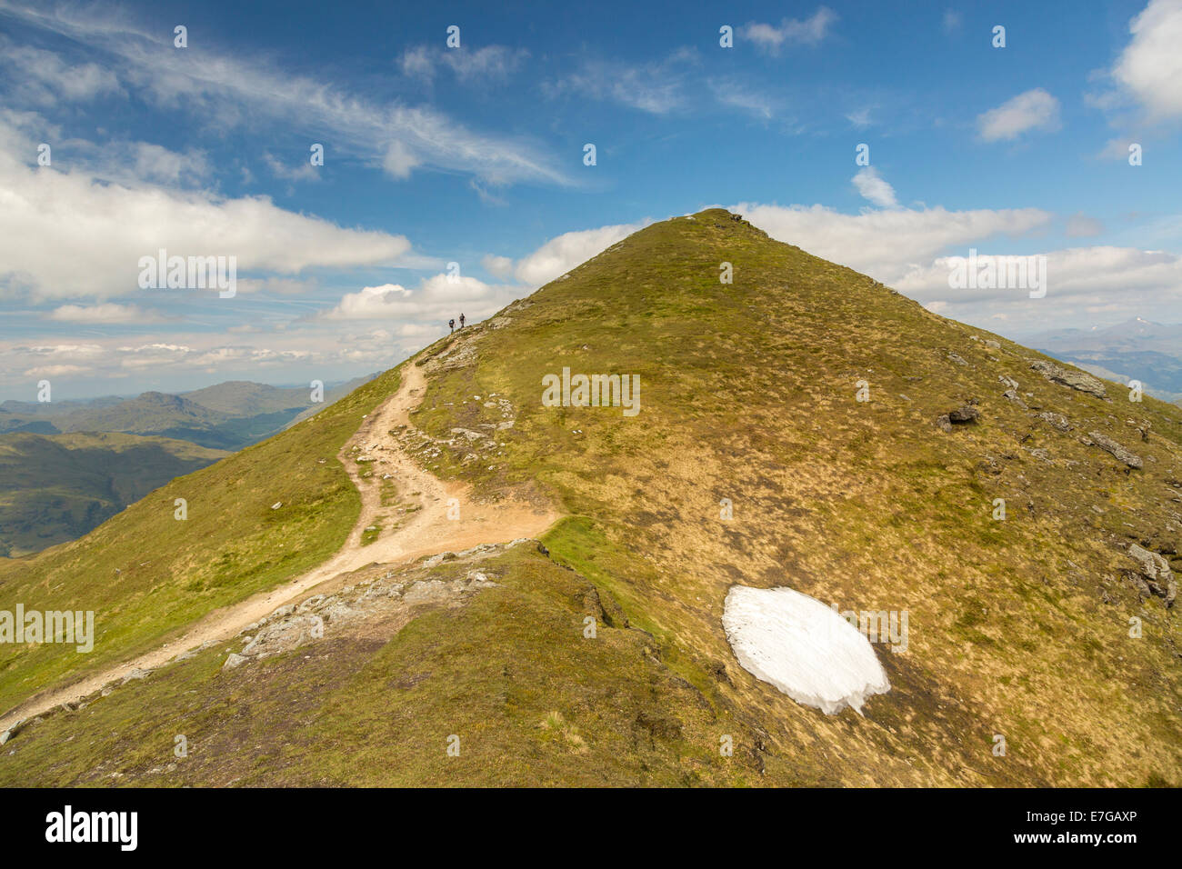 The path to the top of Ben Lomond. Stock Photo
