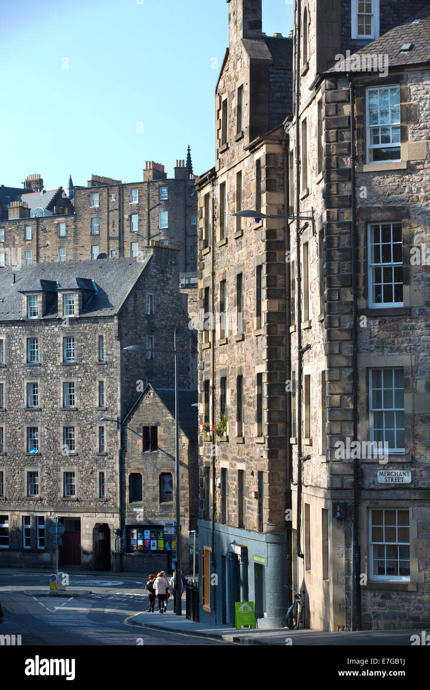 Candlemaker Row, the Old Town, Edinburgh, Scotland, United Kingdom Stock Photo
