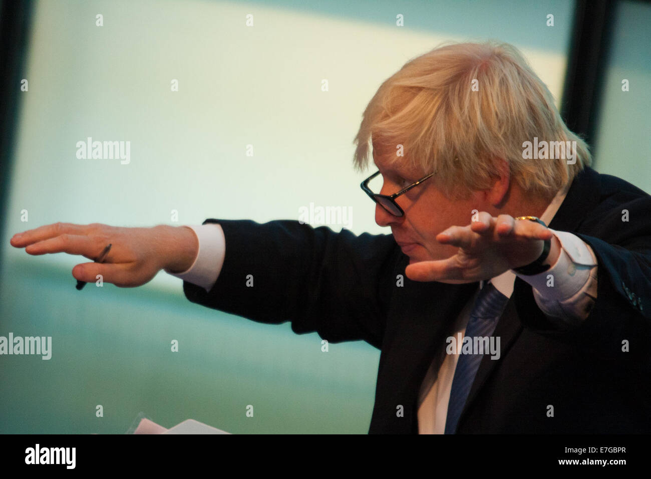 City Hall, London. September 17th 2014. Mayor of London Boris Johnson fields questions from members of the London - Stock Image