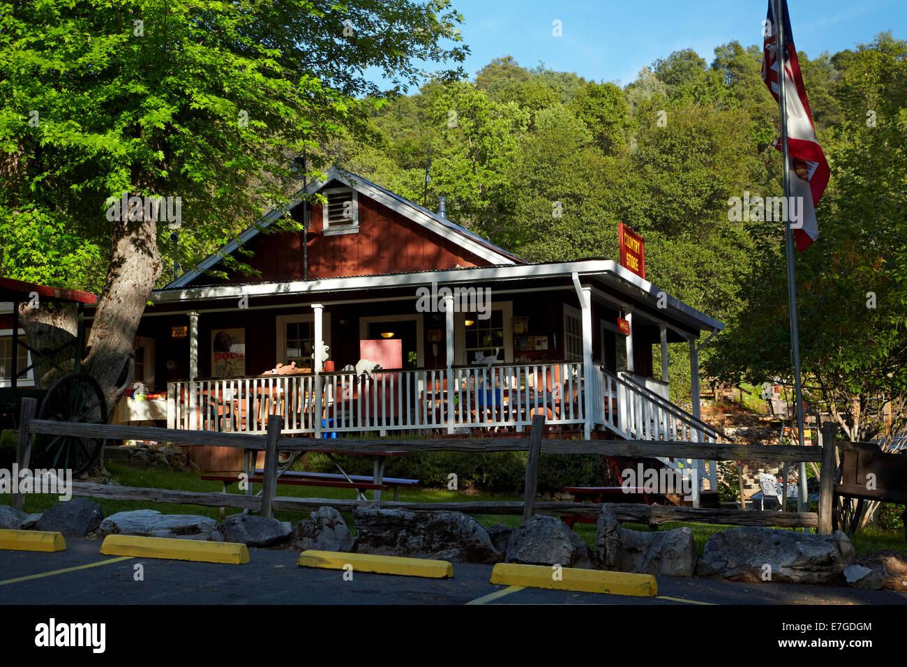 Shop at 49er RV Ranch, Columbia, Tuolumne County, Sierra Nevada foothills, California, USA - Stock Image