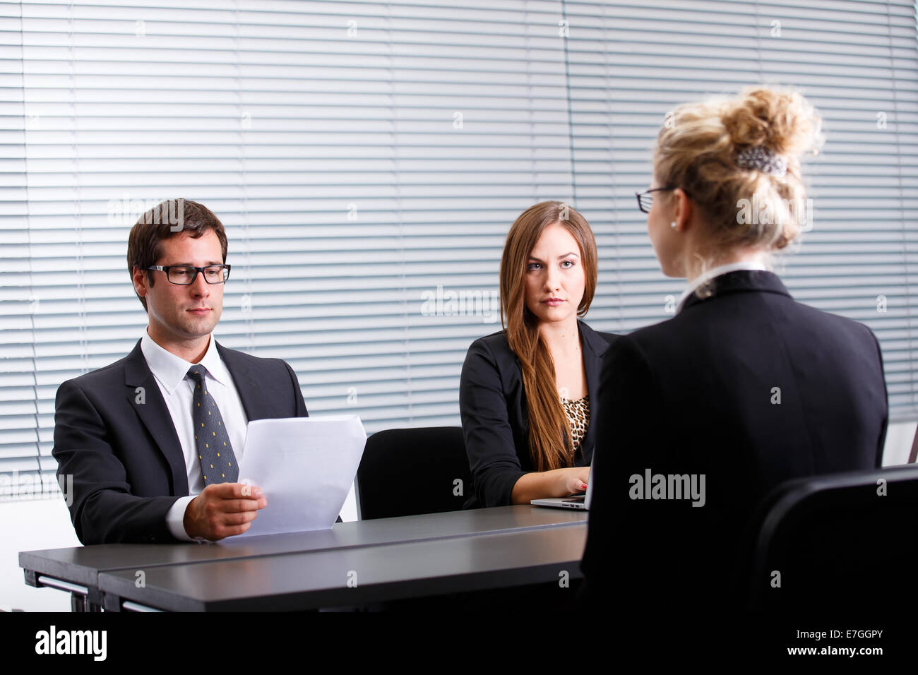 Work interview - Stock Image