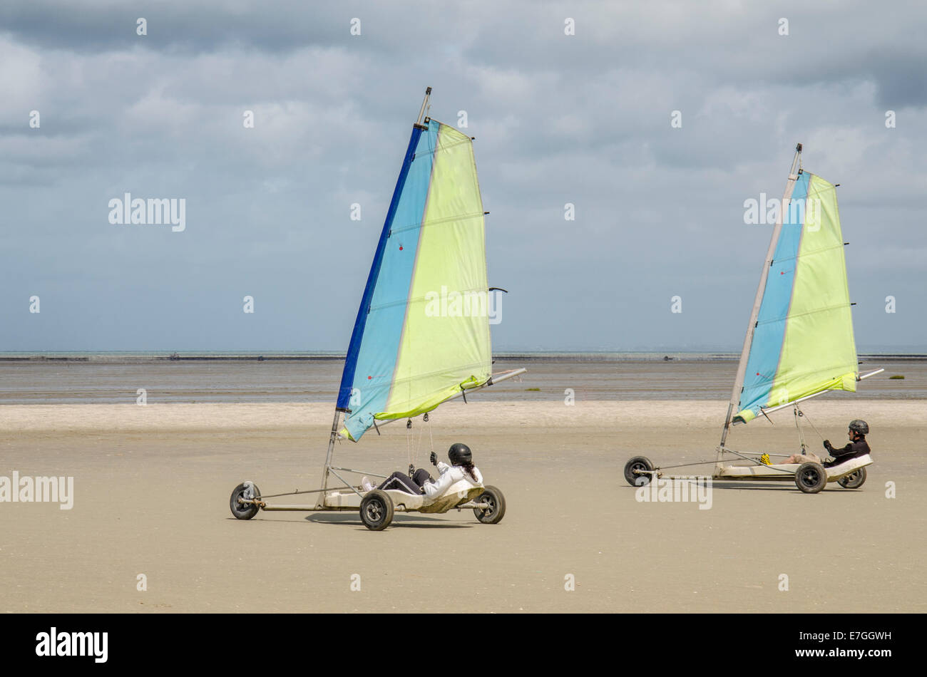 Land Yachting Hirel Brittany France - Stock Image