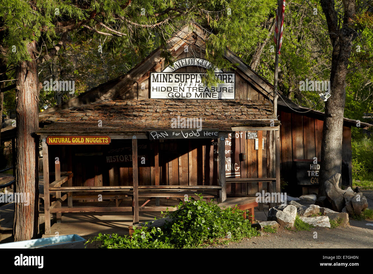 Matelot Miners Supply/Hidden Treasure Gold Mine, Columbia State Historic Park, Columbia, Tuolumne County, Sierra - Stock Image