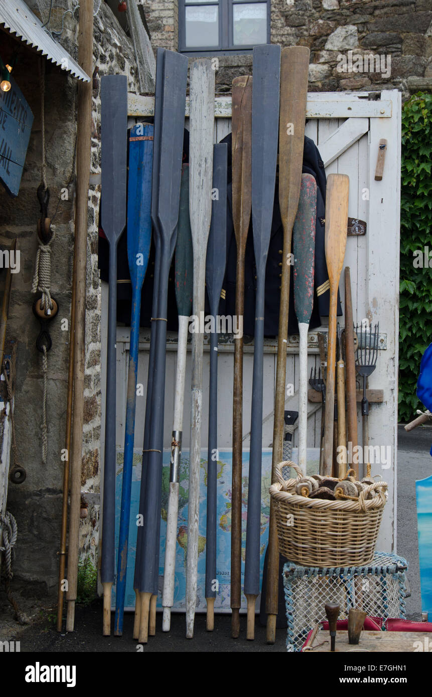 Wooden Boat Oars For Sale Stock Photo 73509213 Alamy
