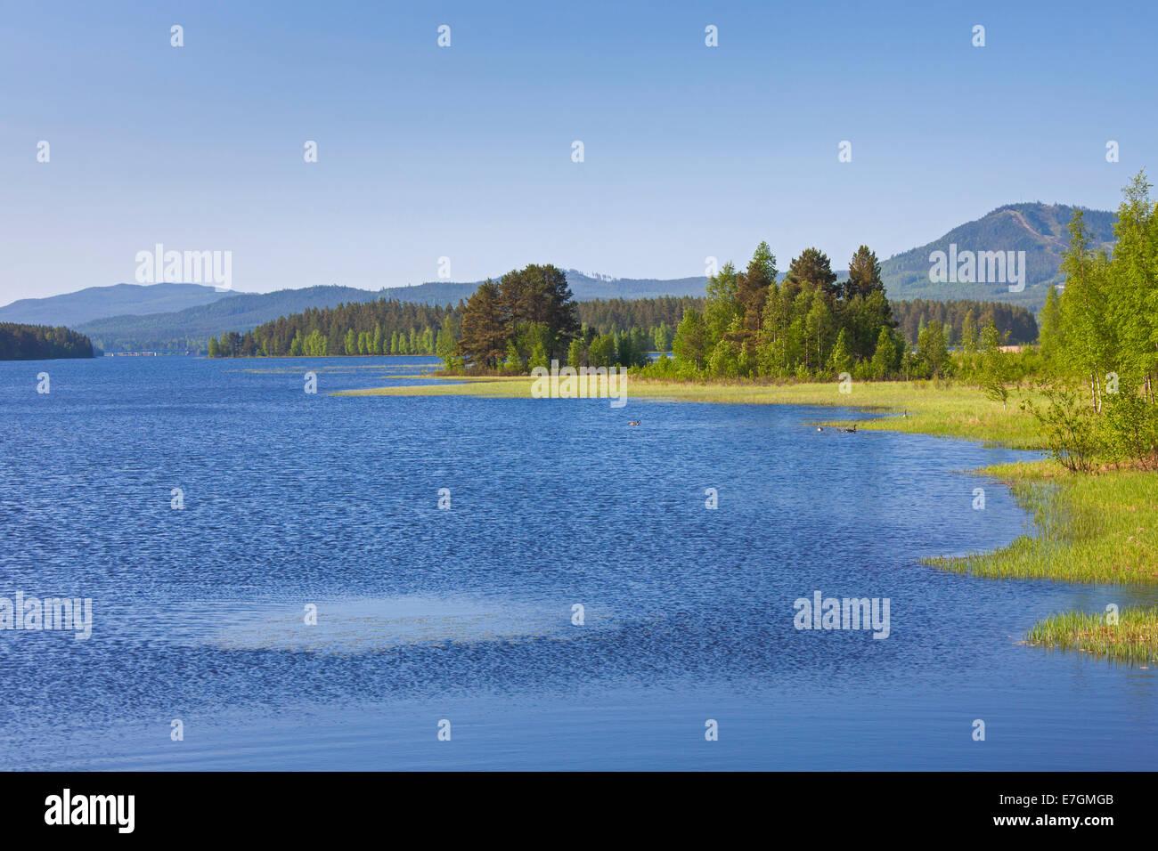 Lake Siljan in summer, Dalarna, Sweden - Stock Image