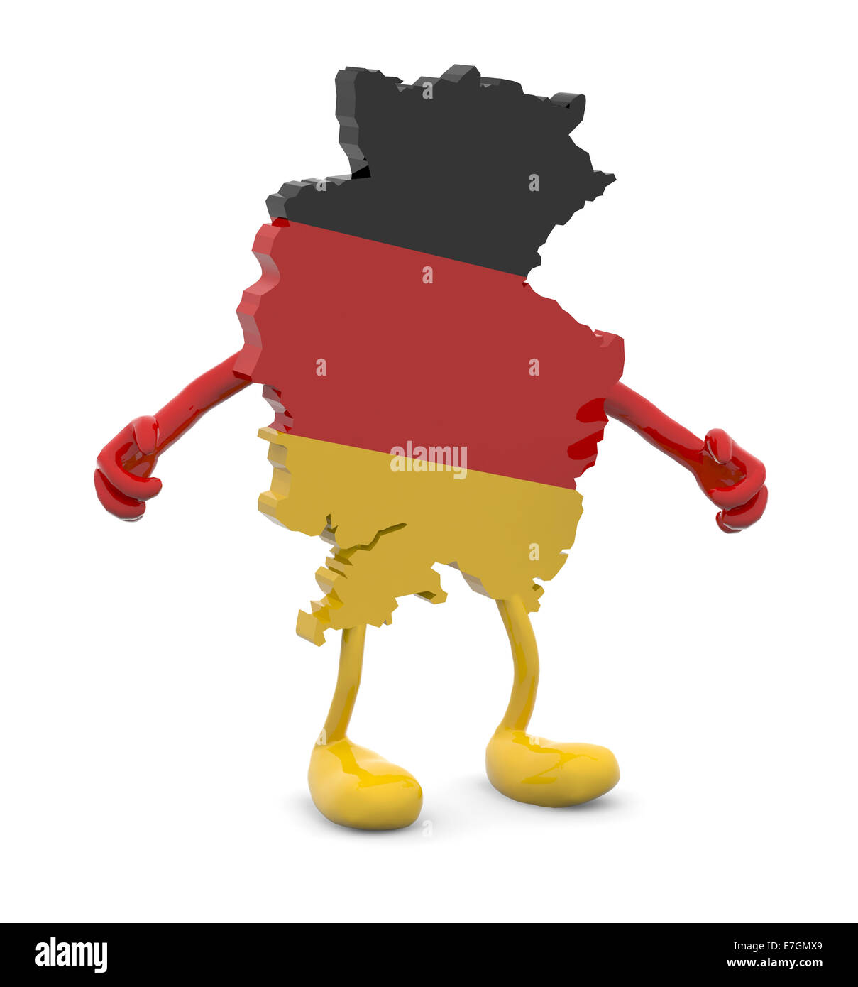 Cartoon Map Of Germany.Germany Map With Arms And Legs Cartoon 3d Illustration Stock Photo