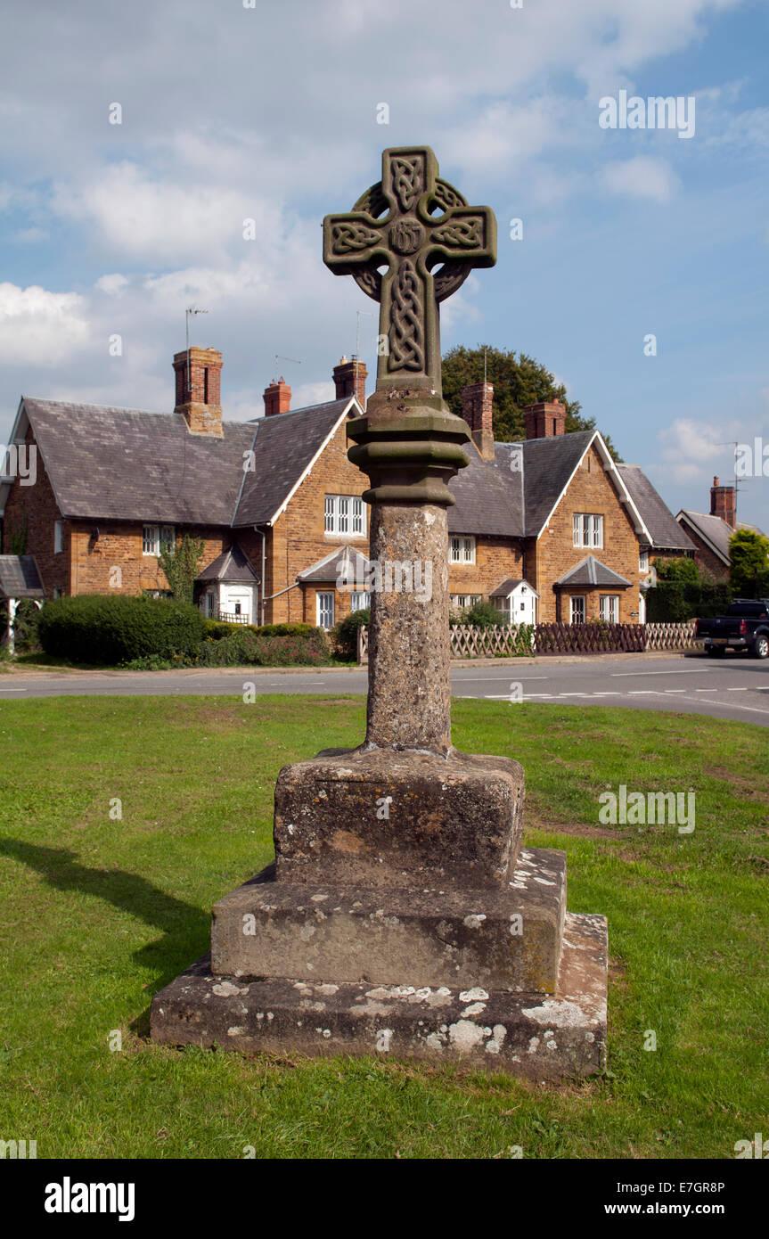 Sywell village cross, Northamptonshire, England, UK - Stock Image